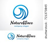 wave logo template design... | Shutterstock .eps vector #721373845