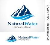 natural water logo template... | Shutterstock .eps vector #721373974
