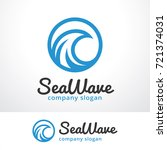 Sea Wave Logo Template Design...