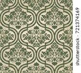 seamless damask wallpaper.... | Shutterstock .eps vector #721374169