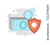 financial security  bank... | Shutterstock .eps vector #721374655