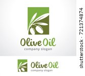 olive oil logo template design... | Shutterstock .eps vector #721374874