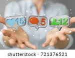 businesswoman on blurred... | Shutterstock . vector #721376521