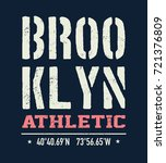 vintage brooklyn typography  t... | Shutterstock . vector #721376809