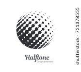 vector abstract halftone circle ... | Shutterstock .eps vector #721378555