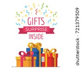 gift box icon  special present... | Shutterstock .eps vector #721379509