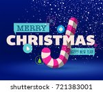 christmas greeting card with... | Shutterstock .eps vector #721383001