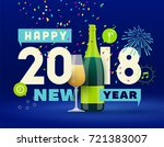 new year greeting card | Shutterstock .eps vector #721383007