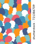 seamless pattern of a crowd of... | Shutterstock .eps vector #721386709