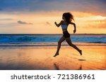 Barefoot Sporty Girl Silhouett...