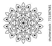 mandala. black and white... | Shutterstock . vector #721387681