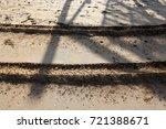 footprints in the sand | Shutterstock . vector #721388671