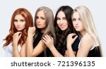 concept coloring hair.curly hair | Shutterstock . vector #721396135