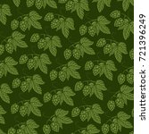 background pattern with hops... | Shutterstock .eps vector #721396249