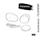 vector image. potato outline... | Shutterstock .eps vector #721398589