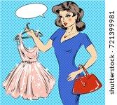 illustration of pretty girl... | Shutterstock . vector #721399981