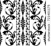 baroque striped seamless... | Shutterstock .eps vector #721401175