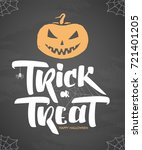 vector halloween poster with...   Shutterstock .eps vector #721401205