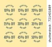 a set of nine labels discounts... | Shutterstock . vector #721401889