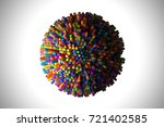 abstract shape of many hexagons ... | Shutterstock . vector #721402585