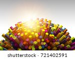 abstract shape of many hexagons ... | Shutterstock . vector #721402591
