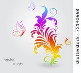 vintage colorful floral... | Shutterstock .eps vector #72140668