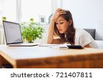 tired student struggling to... | Shutterstock . vector #721407811