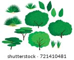 collection of various green... | Shutterstock .eps vector #721410481