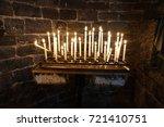 Votive Candles Weaving Flames...