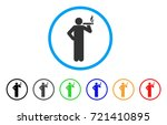 smoking man rounded icon. style ... | Shutterstock .eps vector #721410895