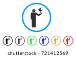 man with flag rounded icon.... | Shutterstock .eps vector #721412569