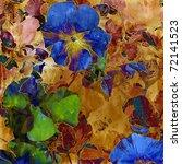 Art Grunge Violets Vintage...