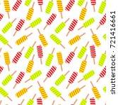 ice cream seamless pattern.... | Shutterstock .eps vector #721416661