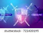 shield and swords in the form... | Shutterstock .eps vector #721420195