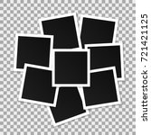 set of square vector photo... | Shutterstock .eps vector #721421125
