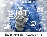 iot industries innovative... | Shutterstock . vector #721421491
