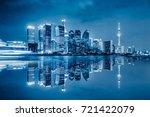 shanghai skyline panorama... | Shutterstock . vector #721422079