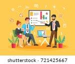 brainstorming creative team... | Shutterstock .eps vector #721425667