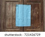 blank azure paper sheet on... | Shutterstock . vector #721426729