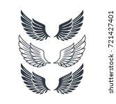 vector abstract wing flying... | Shutterstock .eps vector #721427401
