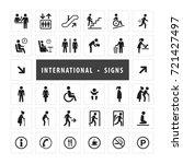 vector set of international... | Shutterstock .eps vector #721427497