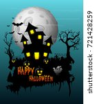 halloween poster night... | Shutterstock . vector #721428259