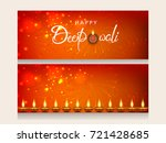 website header or banner set... | Shutterstock .eps vector #721428685