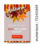 autumn sale text banners for... | Shutterstock .eps vector #721431859