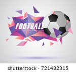 abstract crystal 3d faceted...   Shutterstock .eps vector #721432315