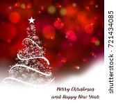 vector stylized christmas tree...   Shutterstock .eps vector #721434085