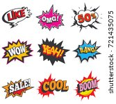 comic sound effect set. bubble... | Shutterstock .eps vector #721435075