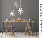 christmas mockup with a poster... | Shutterstock . vector #721439851
