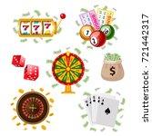 casino  gambling symbols  ... | Shutterstock .eps vector #721442317
