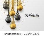 german frohliche weihnachten.... | Shutterstock .eps vector #721442371
